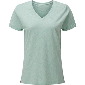 tentree Nahanni T-shirt à col en V Femme, morning blue snow fleck